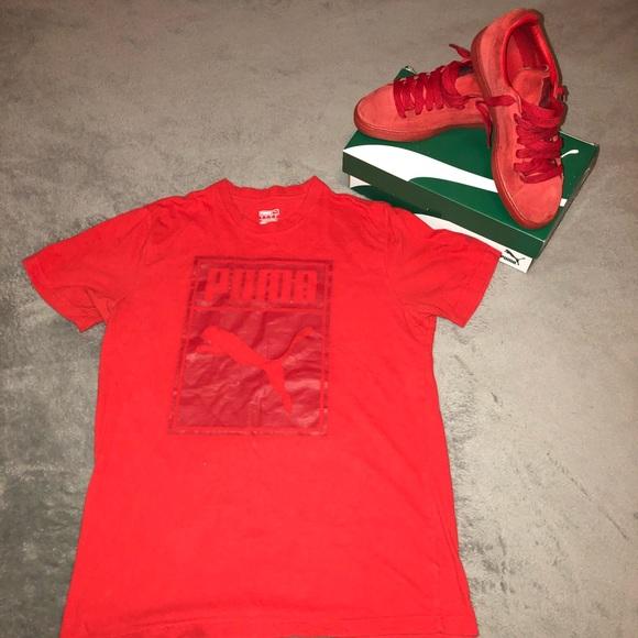 Red Puma T Shirt and Puma Shoe Combo!!